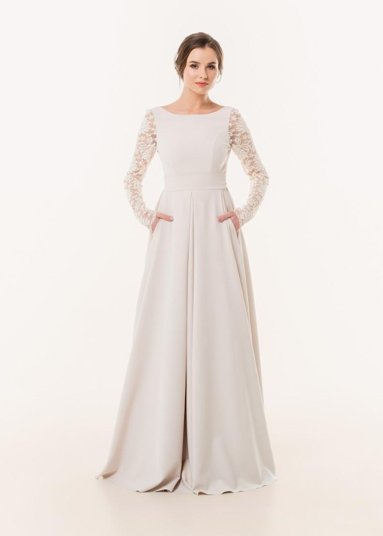 Свадебное платье с рукавами 1617