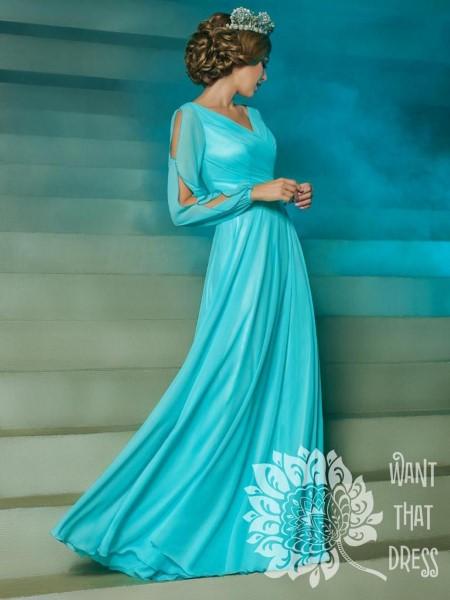 Эвелина (голубой, темно-синий, бежевый).