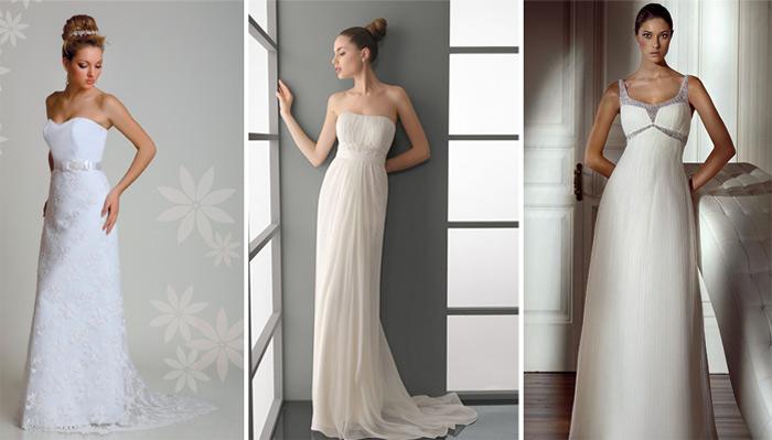 Свадебное платье простого покроя