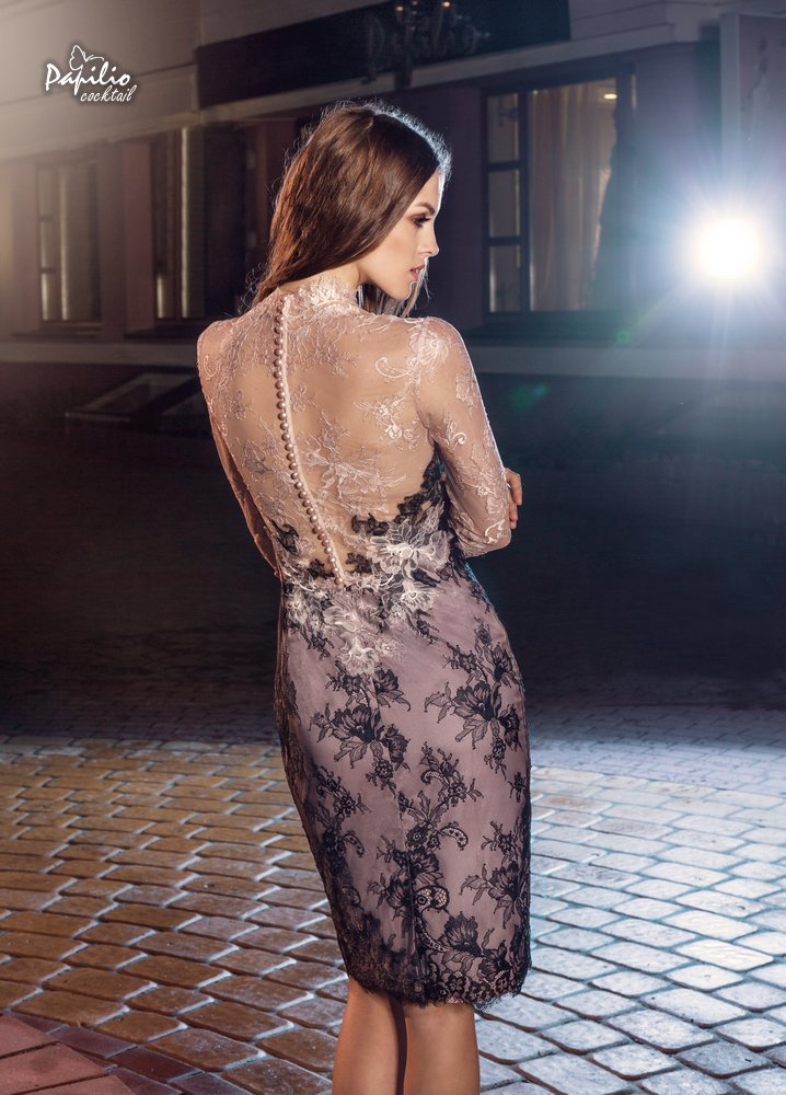 Платье на выпускной -  0212 papilio (черное кружево)