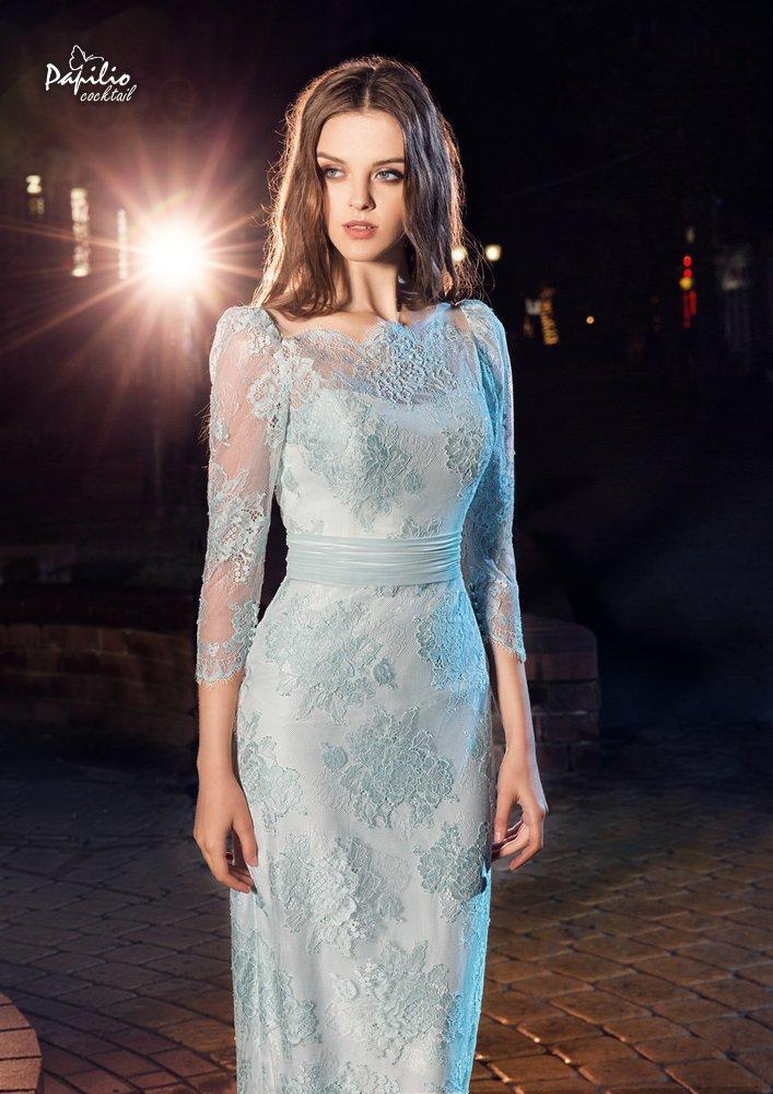 Платье на выпускной -  0214 papilio (мята)