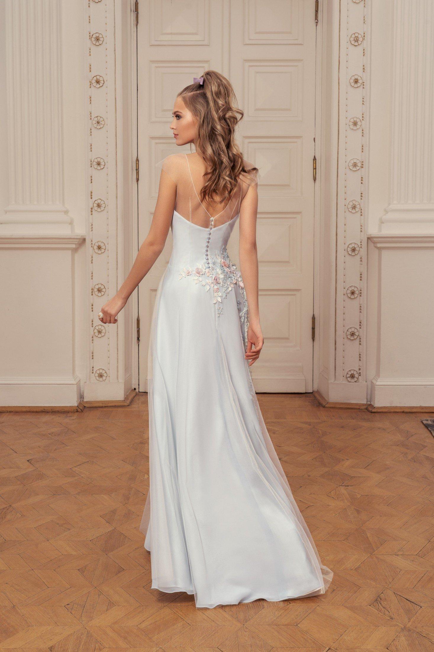 Длинное платье нежно-голубого цвета Papilio-0526