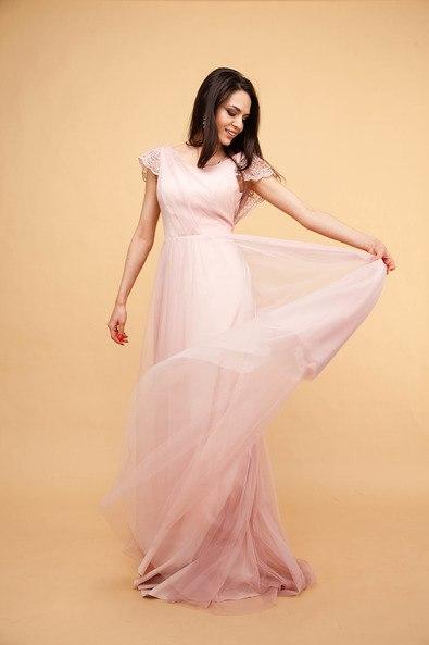 Свадебное платье  0617 розовое В наличии в Спб