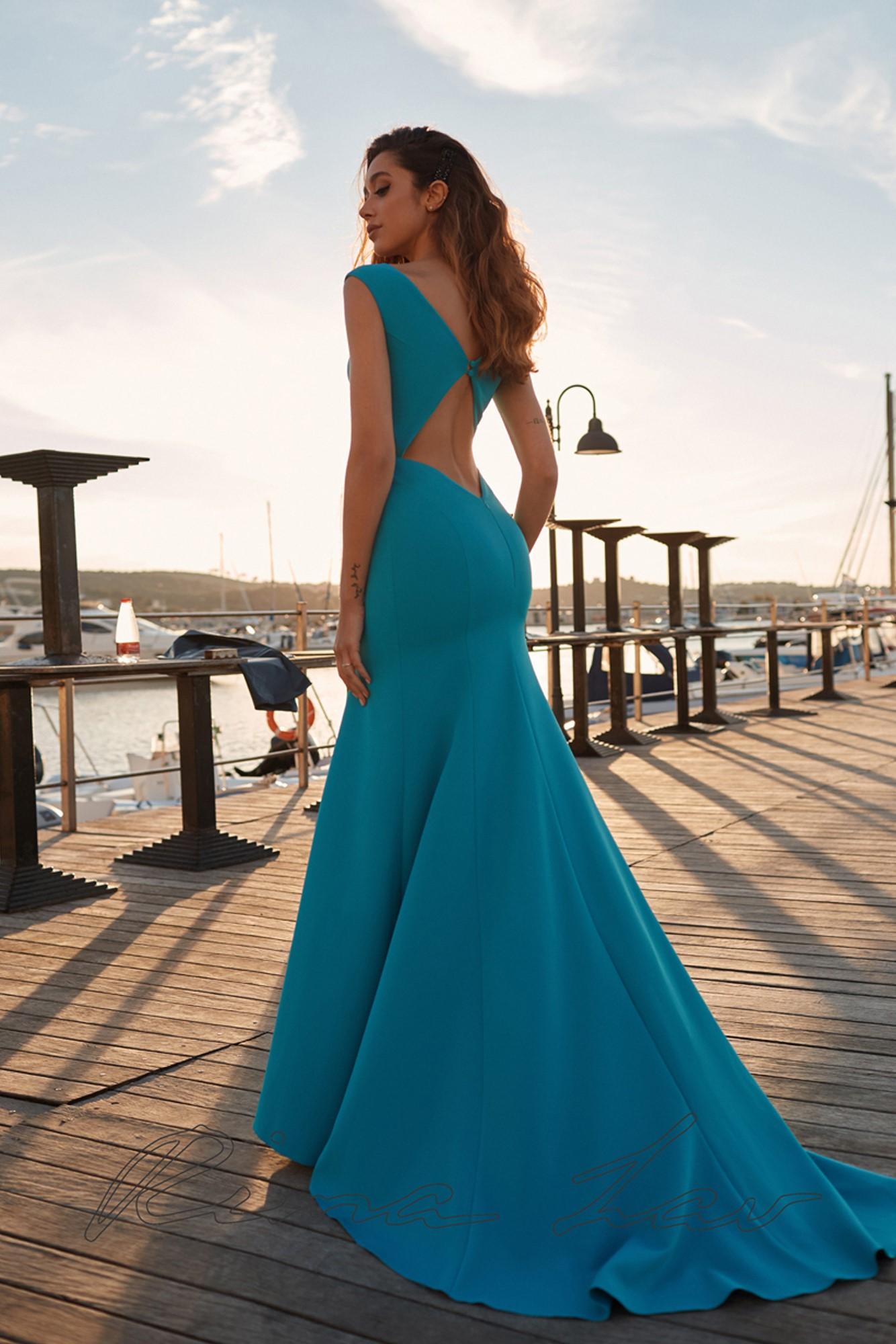 Вечернее платье Carey (персикового цвета в наличии)