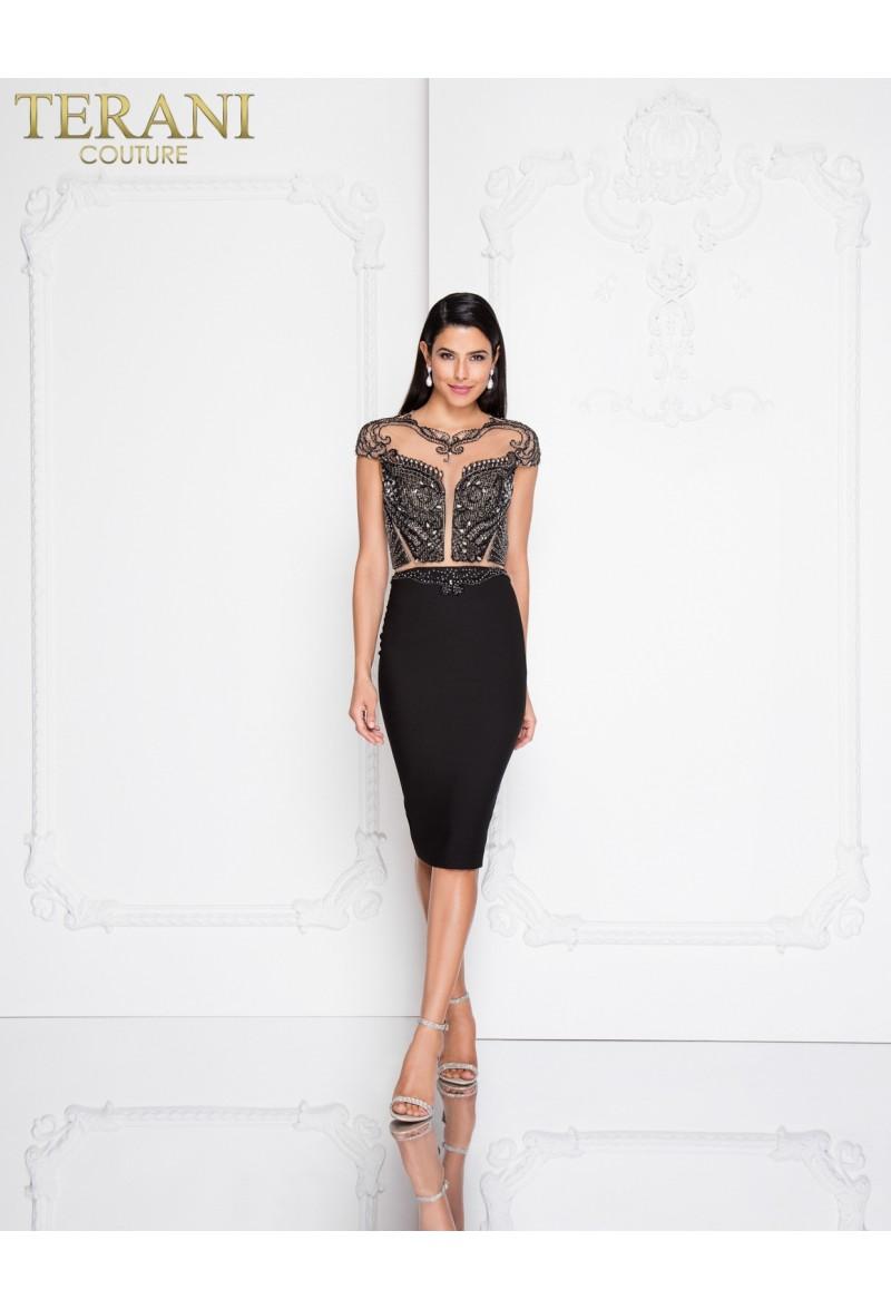 737f5897e8d Коктейльное короткое вечернее платье terani couture 6013. zoom Увеличить  изображение