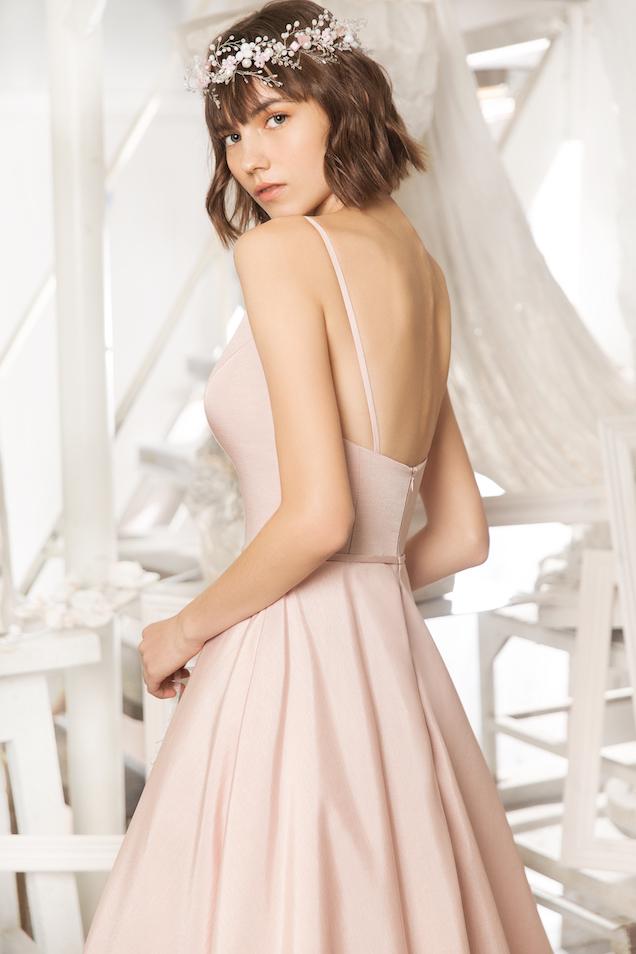 Свадебное платье пудрового цвета Miki