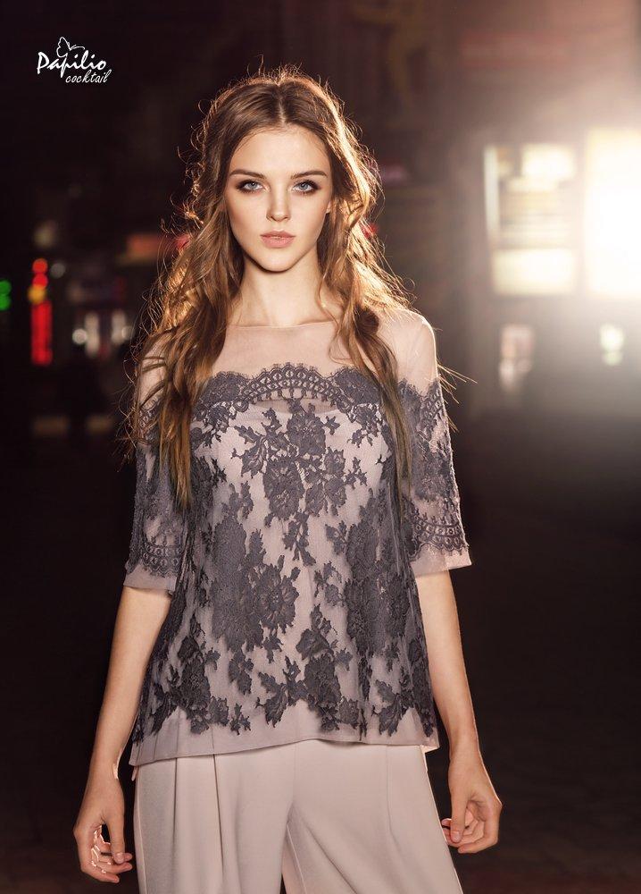 Длинное вечернее платье 0227  (комбинезон) 0218 (блуза) papilio
