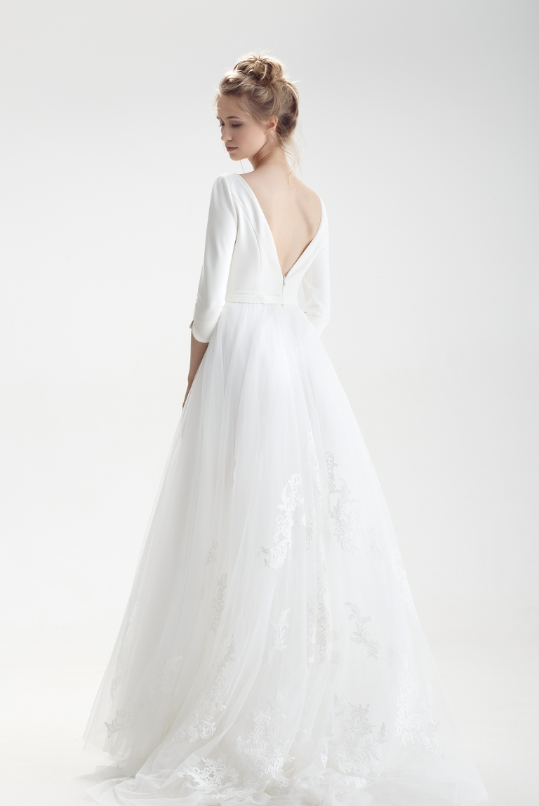 Классическое свадебное платье Амбуа