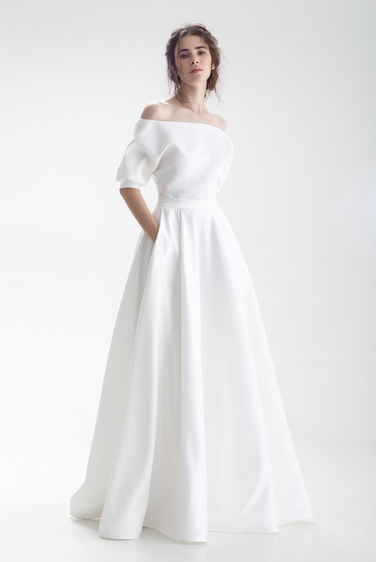 Лаконичное свадебное платье Бэйли
