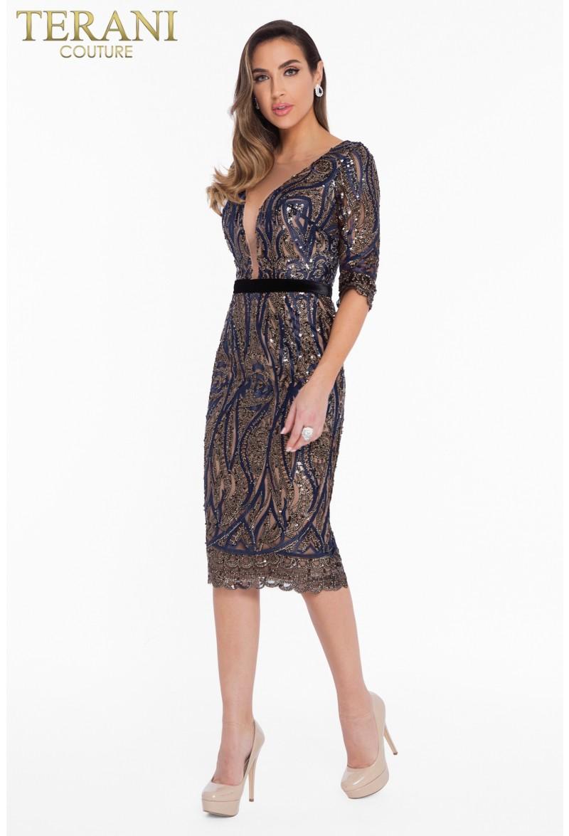 8ee018fbe8d Коктейльное короткое вечернее платье terani couture 7012. zoom Увеличить  изображение