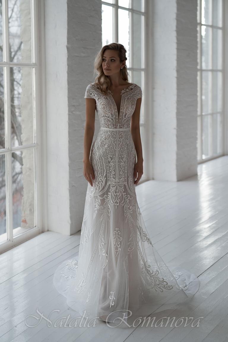 Свадебное платье с рукавами Эвридика