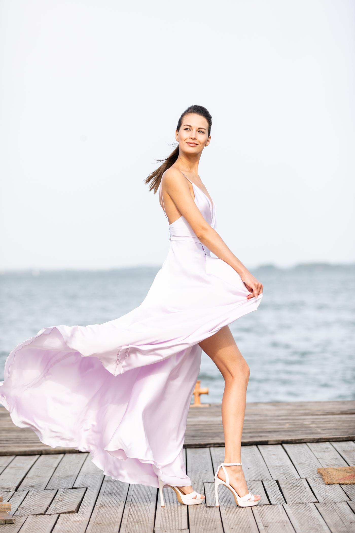 Цветное свадебное платье MOLLY