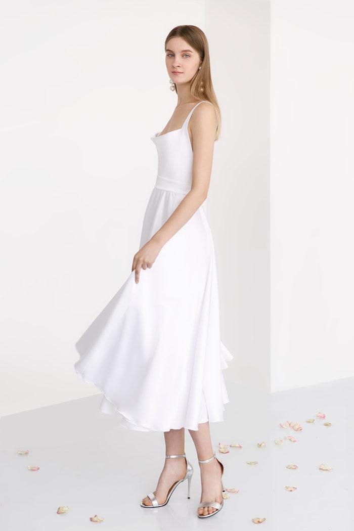 Свадебное платье ELLE миди