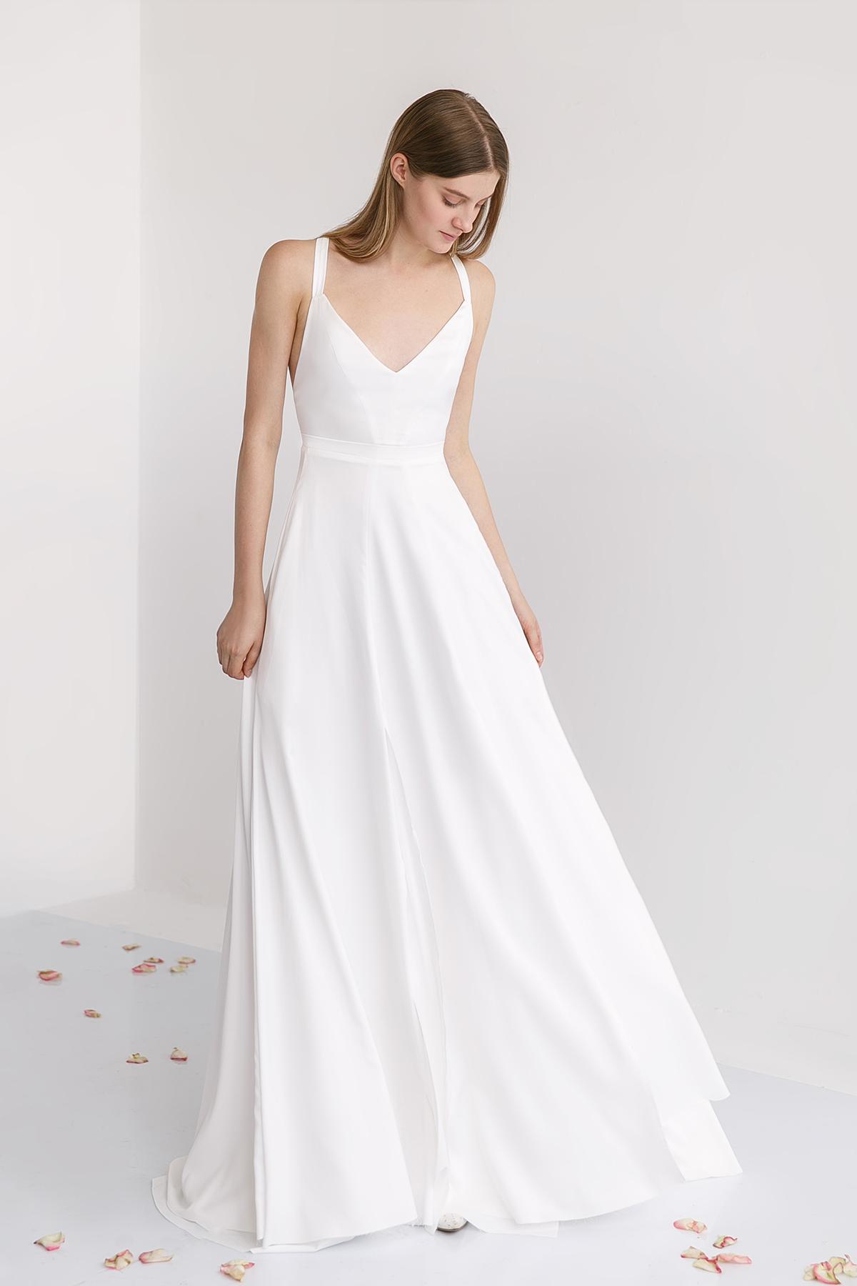 Свадебное платье в молочном цвете Вайлет