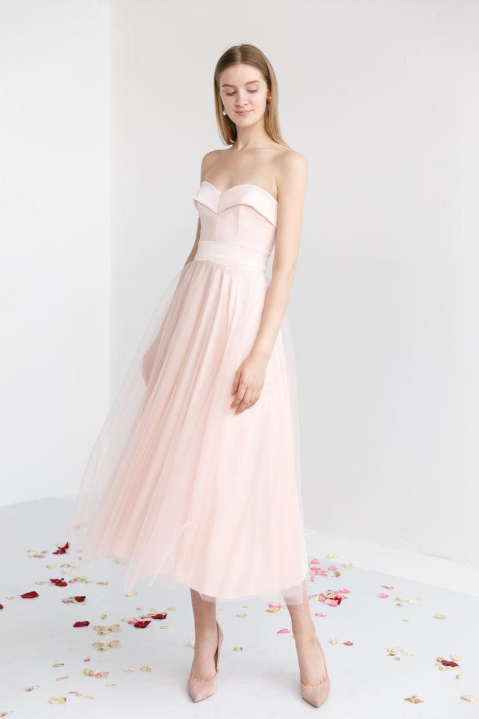 Вечернее платье Виви Миди (в наличии в цвете Капучино)