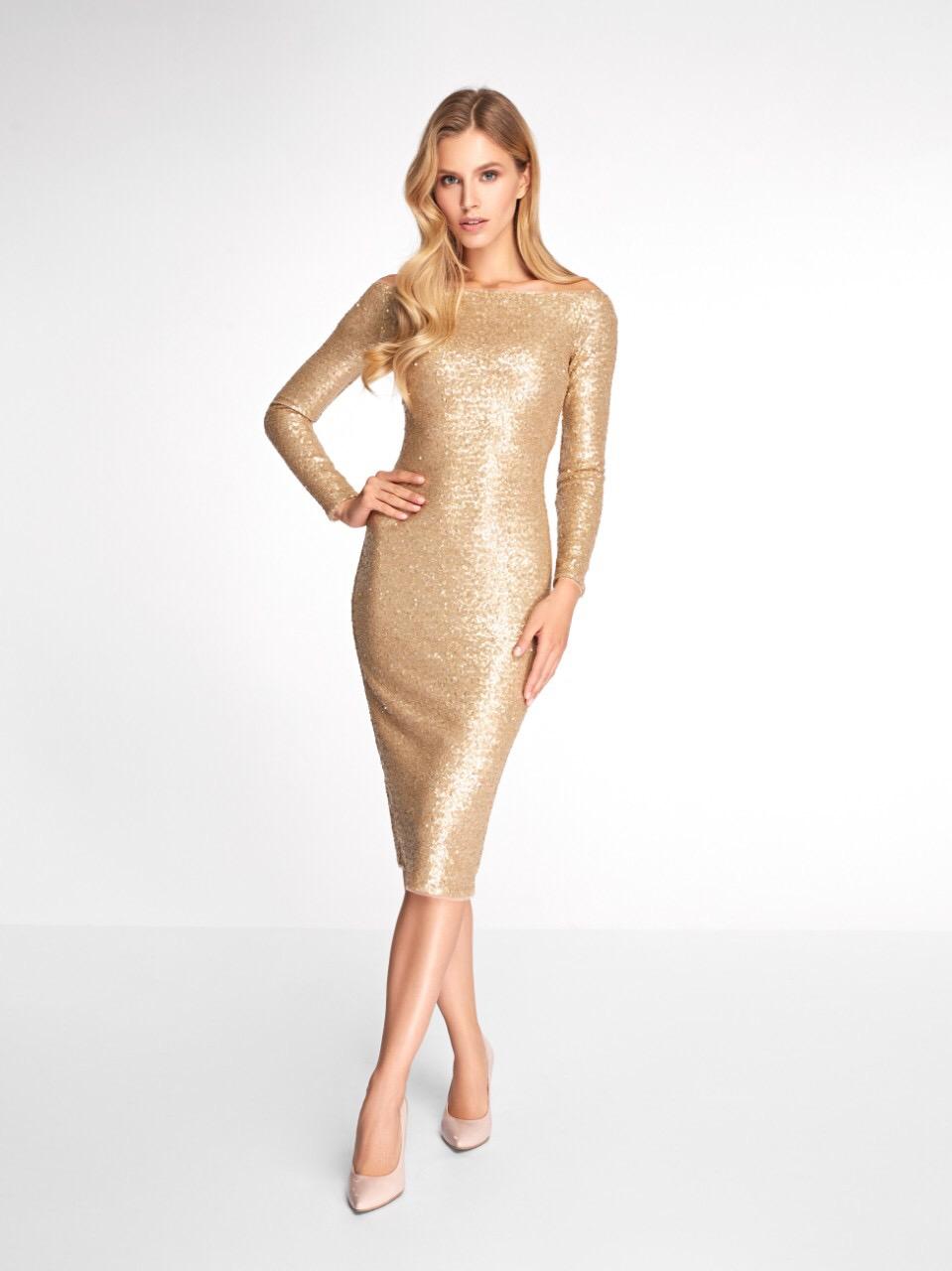Вечернее платье 0346 EMSE золото