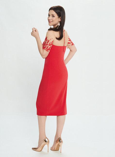 Вечернее платье пудрового цвета М0514