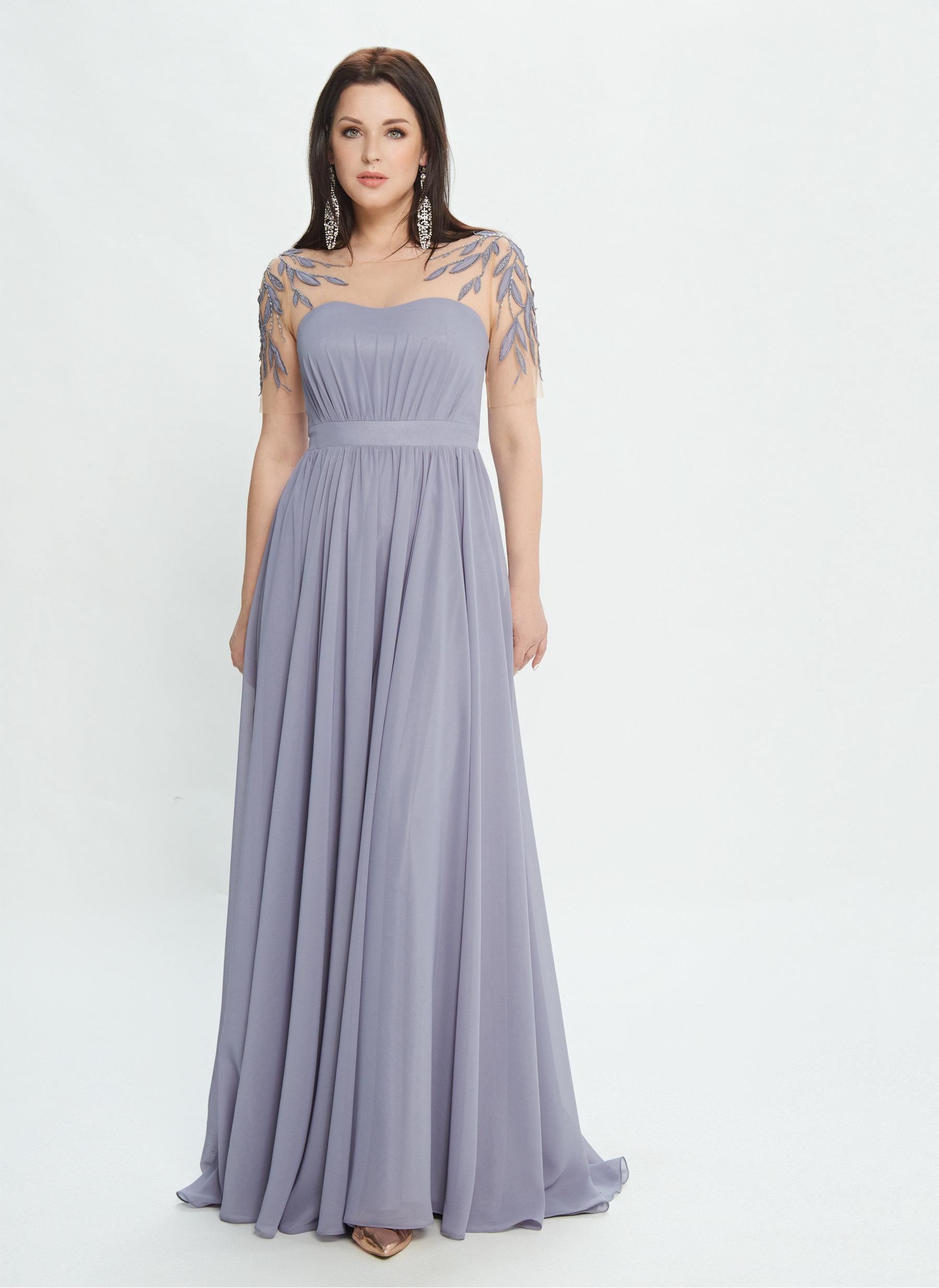 Вечернее платье в пол М0517