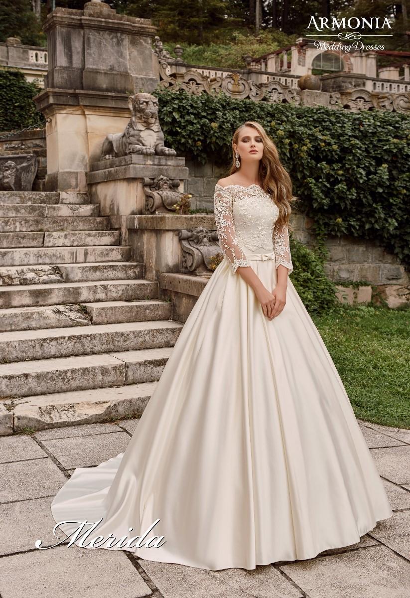 Свадебное платье с кружевным корсетом мерида