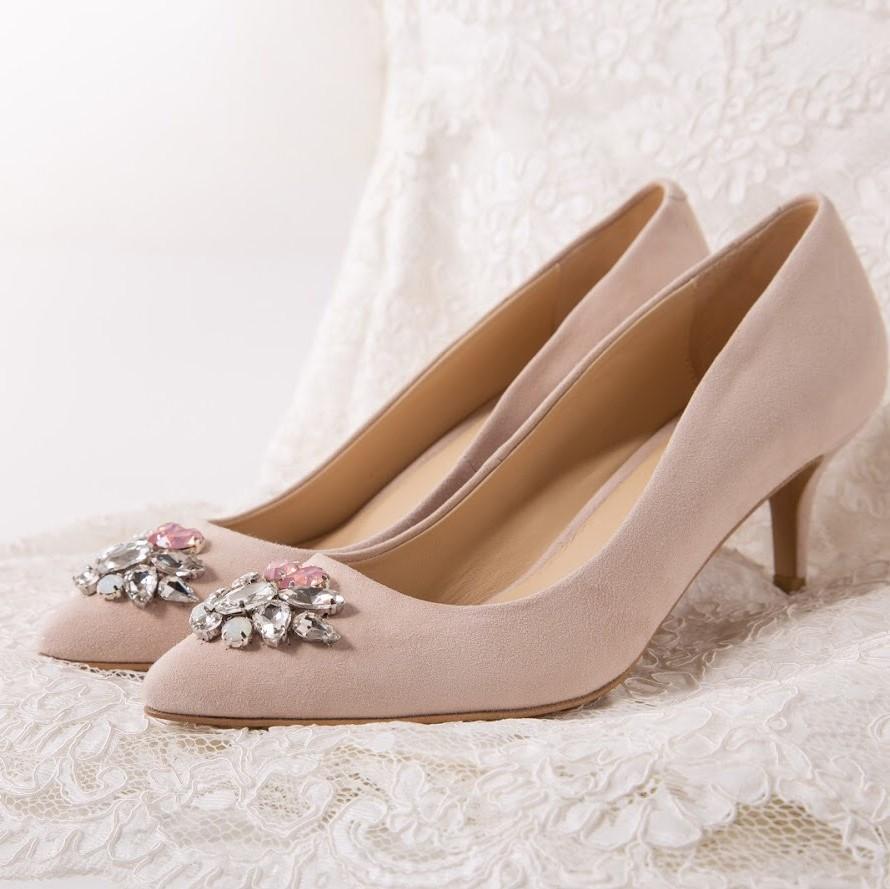 Туфли- лодочка замшевые в пудровом цвете