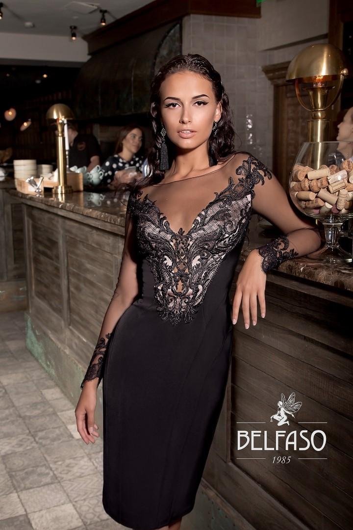 Вечернее платье Railin с рукавом