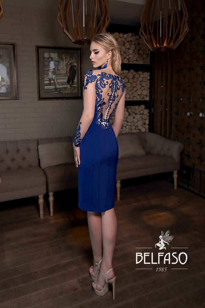 Коктейльное короткое вечернее платье railin с рукавом