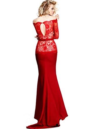 Длинное вечернее платье tarik ediz 92316 (винное)
