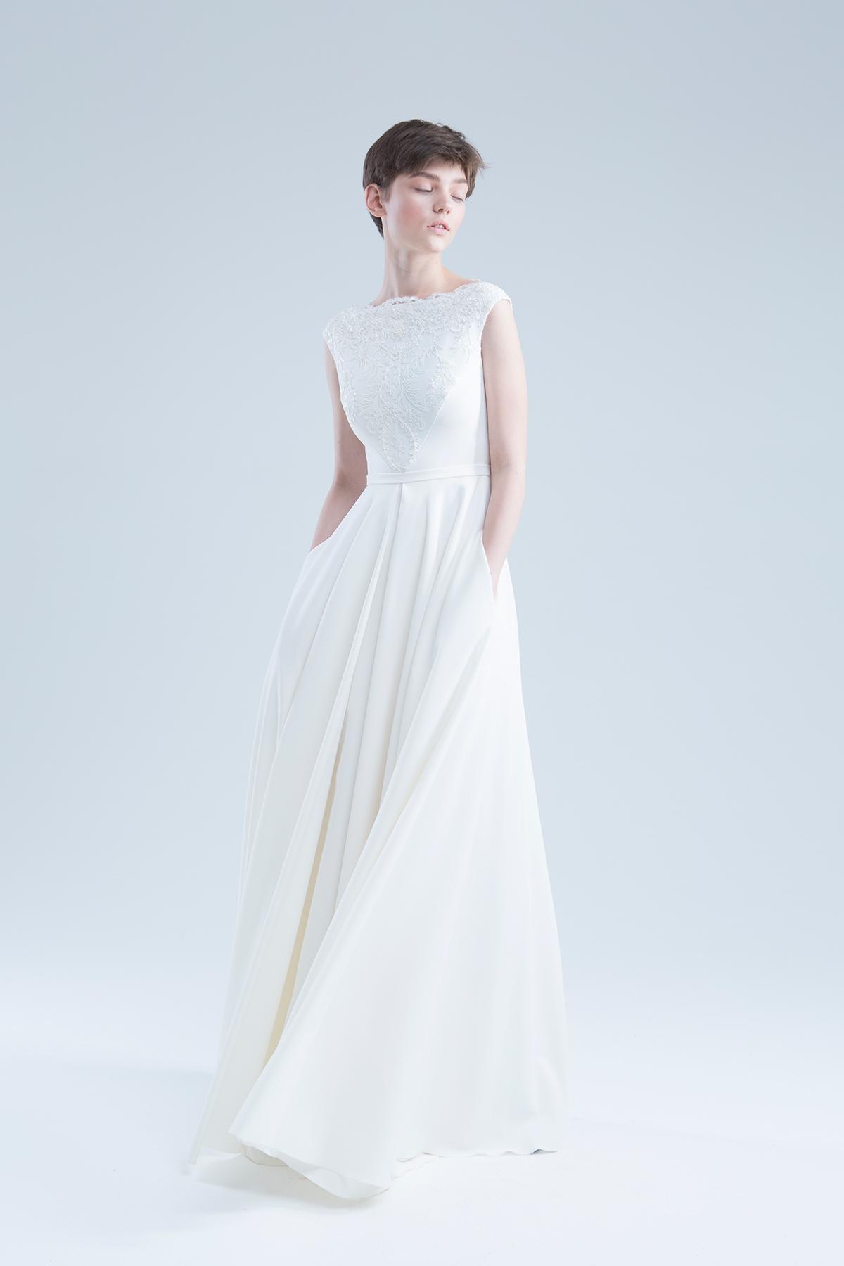 Свадебное платье  анжелия молоко В наличии в Спб