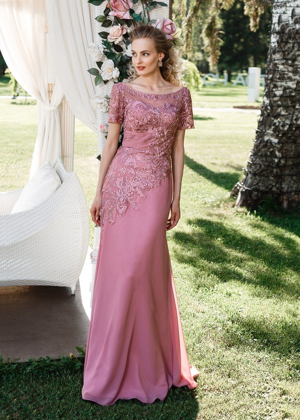 Длинное вечернее платье ch0030b