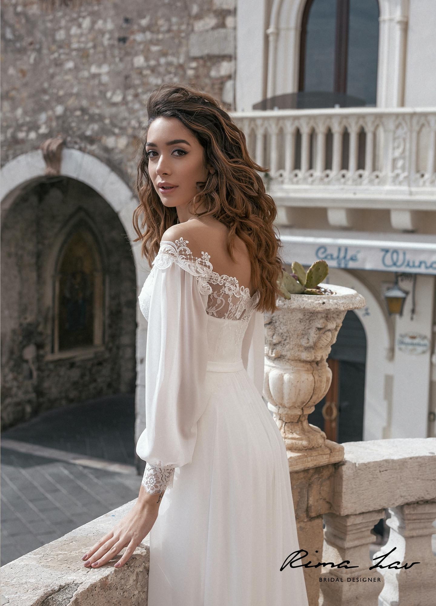 Свадебное платье с кружевным корсетом элика с накидкой