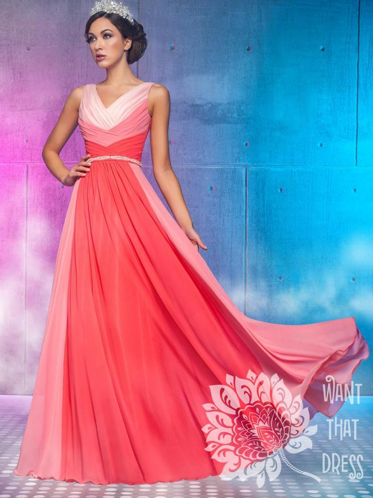 Длинное вечернее платье элейн (коралл)