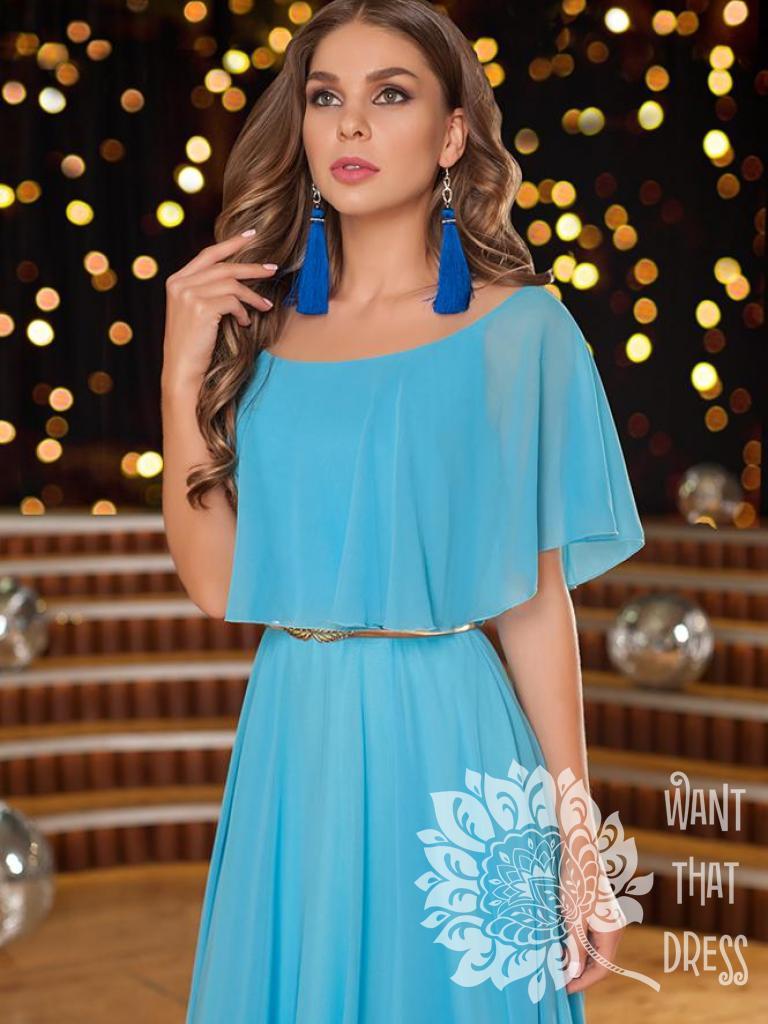 Платье на выпускной -  гера (мята)
