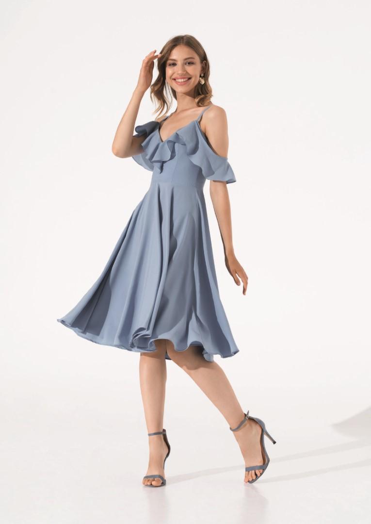 платье 0626/08 голубое emse вечерние платья