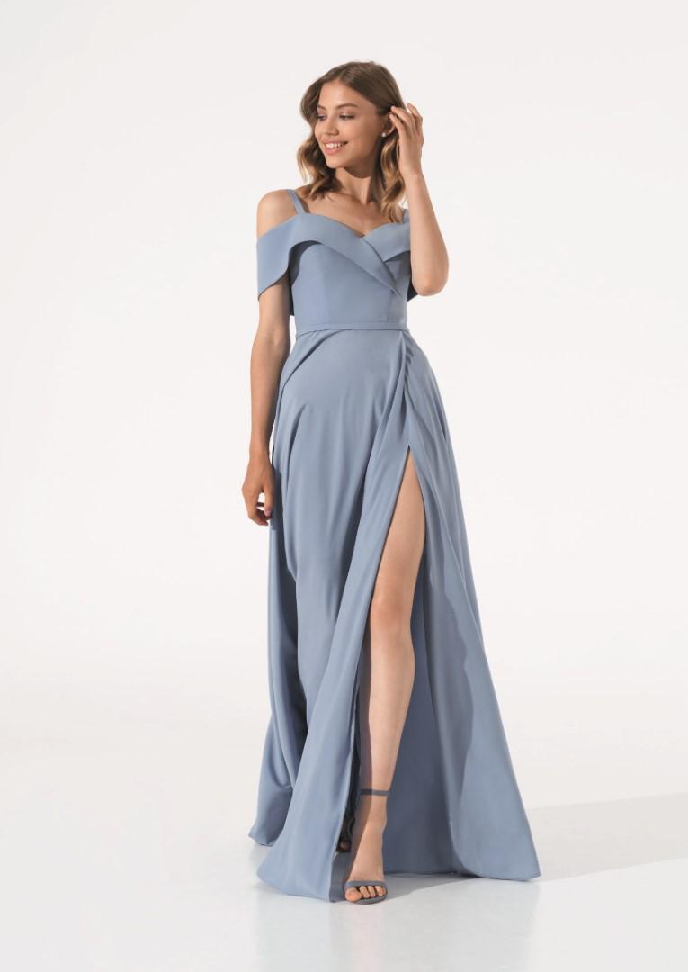 платье 0624/08 голубое emse вечерние платья