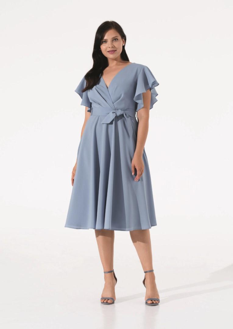 платье 0625/08 голубое plus size emse вечерние платья
