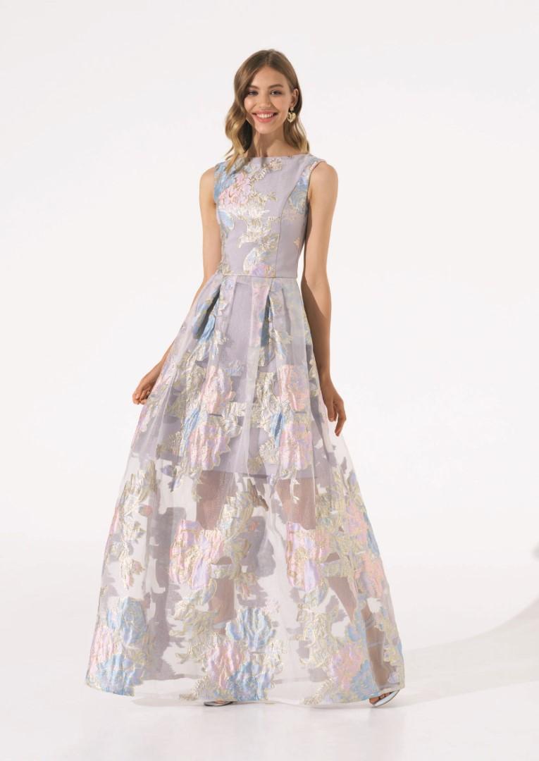 платье 0596/14 серое emse вечерние платья