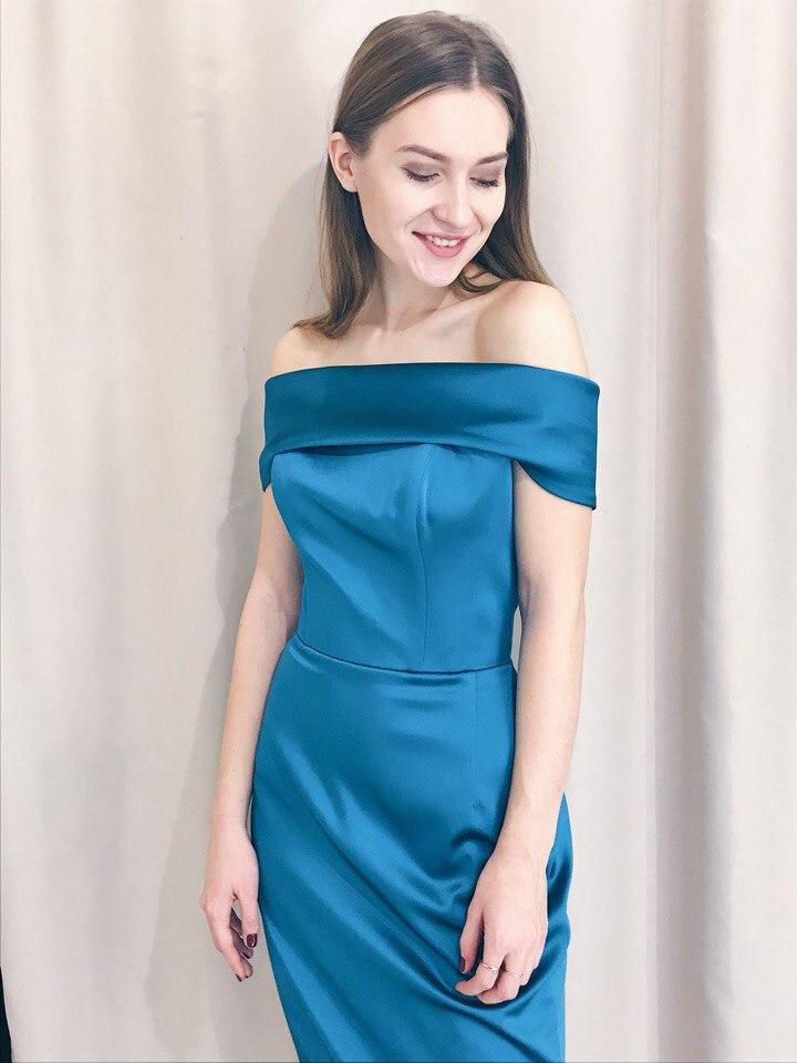 Платье на выпускной -  inna (изумрудный, пудровый)