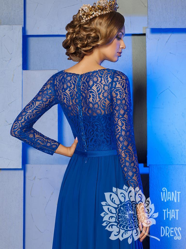 Платье на выпускной -  медея персиковое