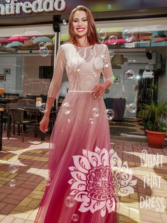 Вечернее платье с рукавами Розали