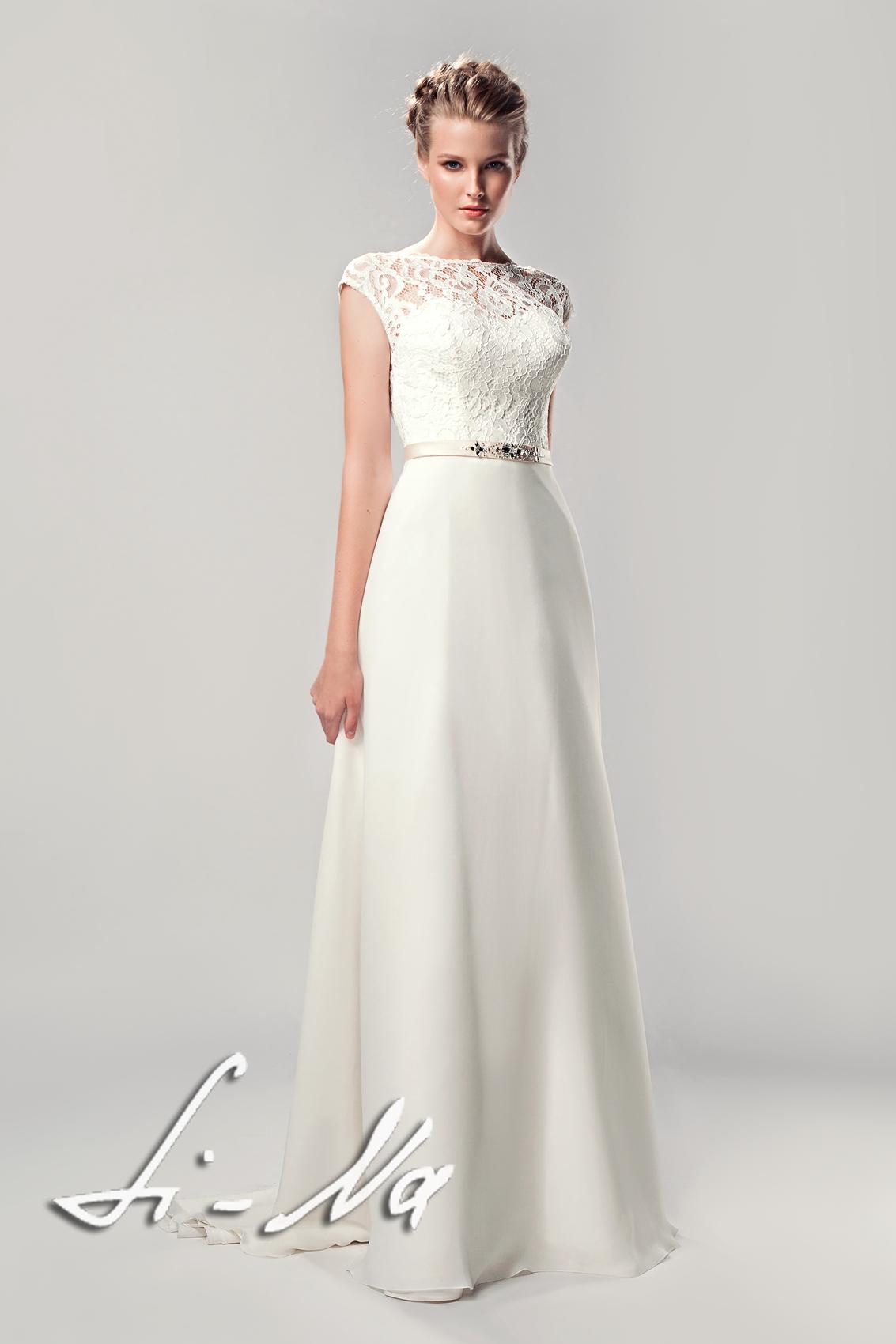 Свадебное платье с рукавами сюзана фани