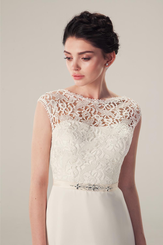 Свадебное платье с кружевным корсетом сюзанна