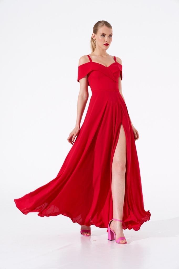 Платье 0624 красное