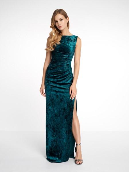 Вечернее платье 0172 EMSE (изумруд)