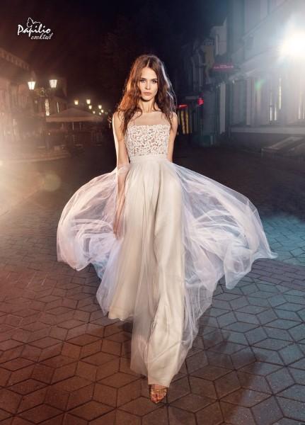 Свадебное платье с кружевным корсетом 0204 papilio