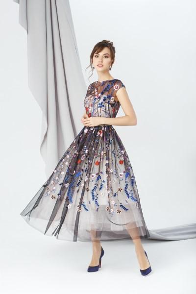 Коктейльное короткое вечернее платье 270