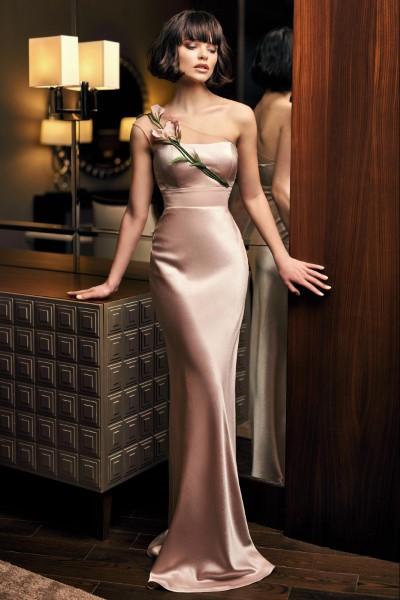 Длинное вечернее платье 0304 flesh papilio