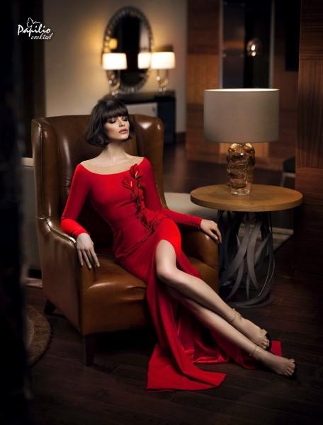 Длинное вечернее платье 0305 papilio (алый)