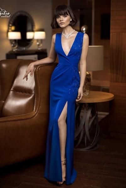 Длинное вечернее платье 0315 papilio (пудровый)