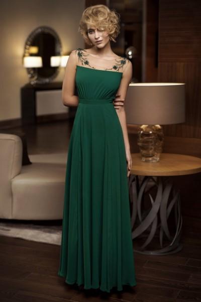 Вечернее платье зеленого цвета Papilio 0317 (в наличии в изумрудном, пудровом и молочном цвете)