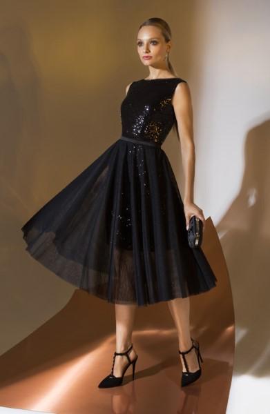Коктейльное короткое вечернее платье 0325u